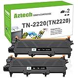 Aztech 2 Pack Kompatibel für Brother TN 2220 TN2220 TN-2220 Toner for Brother MFC 7360N MFC-7360N Toner Brother FAX 2940 FAX-2940 FAX 2845 FAX-2840 FAX 2840 HL 2250DN HL 2240 MFC 7460DN Toner Drucker