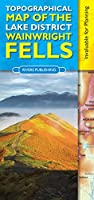 Topographical Map of the Lake District Wainwright Fells by Peter Knowles