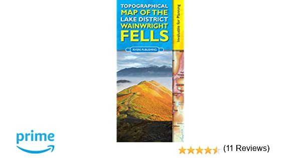 Topographical Map of the Lake District Wainwright Fells Amazonco