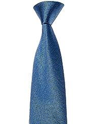MAILANDO Herren Krawatte einfarbig, sehr feine Struktur, rot – schwarz – gold - braun – blau – grün