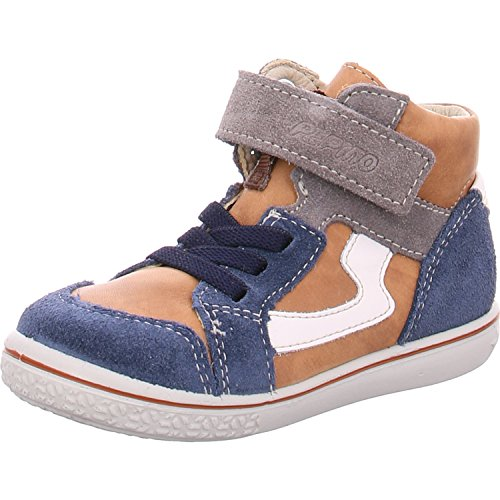 RICOSTA Jungen Benni Hohe Sneaker, Braun (Nougat/Reef), 25 EU