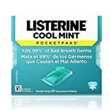 Listerine Pocketpaks Breath Strips Cool Mint 24-Count (Pack of 12)