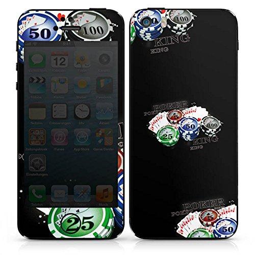 Apple iPhone 5s Case Skin Sticker aus Vinyl-Folie Aufkleber Poker Kartenspiel Casino DesignSkins® glänzend