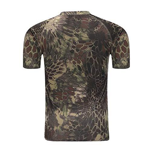 CHLCH Magliette Stampate 3D per Uomo Magliette Casual estive Girocollo Manica Corta,T-Shirt Mimetica T-Shirt Sportiva da Uomo in Cotone Manica Corta colore1 M
