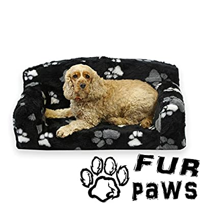 Pet Sofa,Pet Settee. Dog bed.Faux Fur 3 sizes. Removable cover. Inner material is high grade foam. UK MANUFACTURER