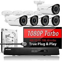 5 x FalconVision, Hikvision 8CH Turbo TVI CCTV Kit +2TB (UE5-5A-8Y)