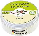 Greendoor Körperpeeling Meersalz Cocos, natürliches Salz-Peeling ohne Mikroplastik mit Bio Kokos,...