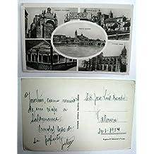 Antigua postal fotográfica. Old photo post card. SALAMANCA - Convento San Esteban. Plaza de Colón. Puente Romano. Galeria Casa de las Conchas. Catedral Nueva