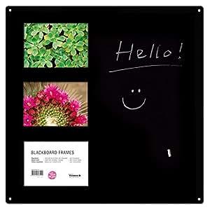 Blackboard Frames GK88323 Tableau Magnétique Acier Noir 40 x 40 x 0,1 cm