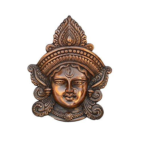 eCraftIndia Goddess Durga Metal Wall Hanging (22.5 cm x 6.25 cm x 27.5 cm, Brown)