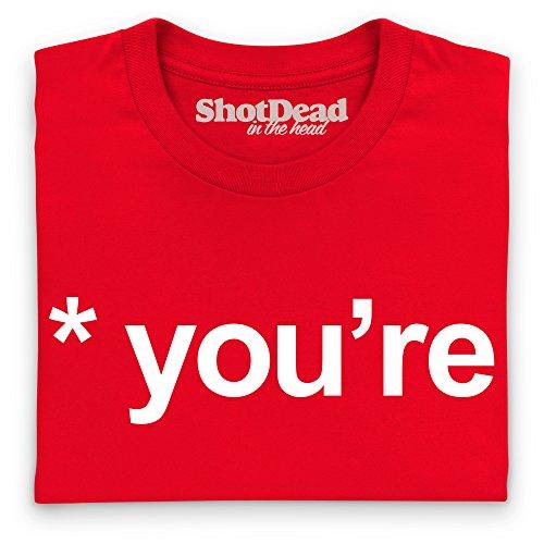 Your vs You're T-shirt, Uomo Rosso