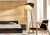 Standlampe BELVA aus massivem Teak Holz Designerlampe | Holzlampe Stehlampe Schlafzimmer Wohnzimmer