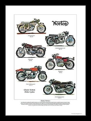 Norton Moto Imprimé Art–850Commando 750Commando P11Atlas Dominator Navigator ANNÉES 60