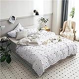 Kexinfan Bettbezug Baumwolle Vierteiliger Anzug Baumwolle Bettlaken 笠 Schlafsaal 3 4 Stück Set Bettwäsche, Bettwäsche, Herz, 1,5 M (5 Fuß) Bett