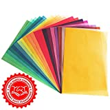 20 Seiten Transparentpapier in 20 bunten Farben | DIN A4 | 130 g/m² | buntes Pergamentpapier | Buntes transparent Papier zum Basteln | Tracing Paper A4 | Laterne basteln