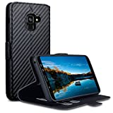 Galaxy A8 2018 Hülle, Terrapin Leder Tasche Case Hülle im