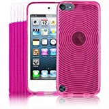 5G Touch Pink Silicone Protective Armour Case + Stylus Pen & Screen Protector Kit for New Apple iPod Touch 5th Generation - 32GB 64GB