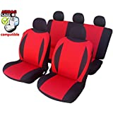 kmhsb602–Asiento Puf Set Negro/Rojo de asiento con airbag páginas para Peugeot 307, 308, 406, 407, 607, 308, 508