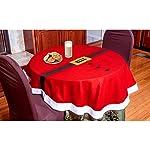 MEDIA WAVE store 3035 Tovaglia da tavola Natalizia Tonda 143 cm con Motivo di Babbo Natale