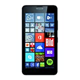 Microsoft Lumia 640 Smartphone, Dual-SIM, Display HD-IPS 5', Processore Quad-Core 1.2GHz, Fotocamera 8 MP, Memoria 8GB, Win 8.1, Nero [Germania]