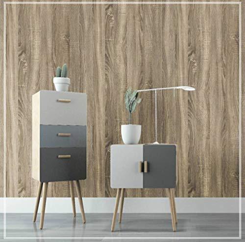 WEII Kreative Holzmaserung Aufkleber Dicken Holzmaserung Tapete Home Wohnzimmer Schlafzimmer Dekoration Tapeten Möbel Renovierung Aufkleber,Stil D,60 * 500 cm