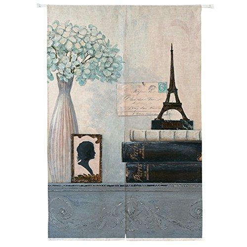 Silk Road Dekoration Vorhang, Amerikanischen Partition Aus stoff Tür-jalousien Anti-lampblack Blickdicht gardinen Für Schlafzimmer Badezimmer Küche Wohnzimmer-K 85x90cm(33x35inch) (Jalousie-schrank-türen)