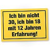 DankeDir! Ich Bin Nicht 30 Jahre, Kunststoff Schild - Geschenk 30. Geburtstag, Geschenkidee Geburtstagsgeschenk Dreißigsten, Geburtstagsdeko/Partydeko / Party Zubehör/Geburtstagskarte