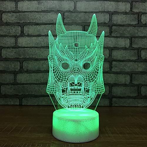 7 farbwechsel 3d led leuchten cartoon monster kopf modell nachtlicht junge nacht dekor schlaf beleuchtung tischlampe