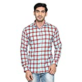 Kalpatru Cotton Red and Blue Checkered C...