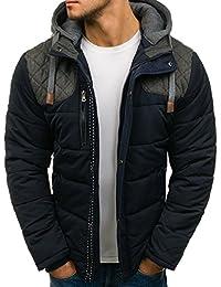 BOLF – Veste à mi-saison – À capuche – Fermeture éclair – Bouton-pression – Style sportif – Blouson – Homme 1A1