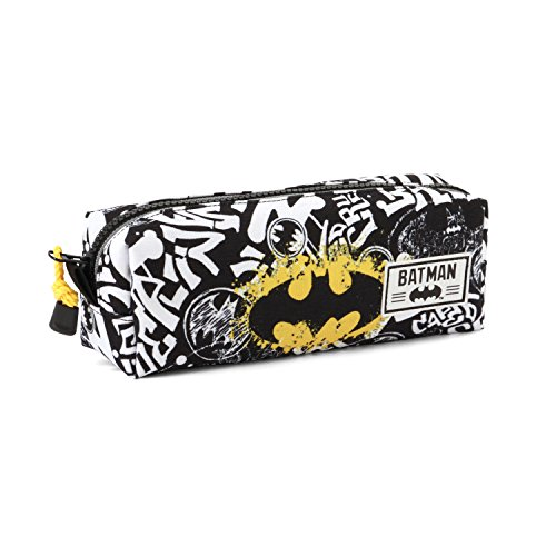 Karactermania Batman Tagsignal-Square Pencil Case Federmäppchen, 22 cm, Grau (Grey)