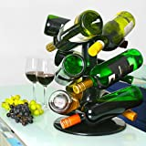 Rotatable 9 Bottle Wine Rack from bar@dr...