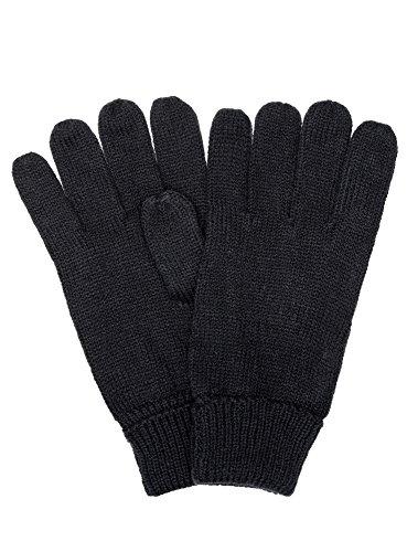 oodji Ultra Herren Strick-Handschuhe, Schwarz, DE 8,5 - 9 / M-L