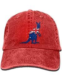 Hipiyoled Bandera de Australia con Gorra Baja de béisbol Ajustable para  Hombre Kangar Denim Hat 5Z647 b741ac3bb60