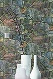 A.S. Création Vliestapete Best of Wood`n Stone 2nd Edition Tapete in Stein Optik fotorealistische Steintapete Naturstein 10,05 m x 0,53 m braun grau Made in Germany 307241 30724-1