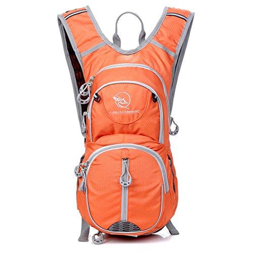 12L Reitrucksack Outdoor Wandern Rucksack Rucksack,SapphireBlue Orange