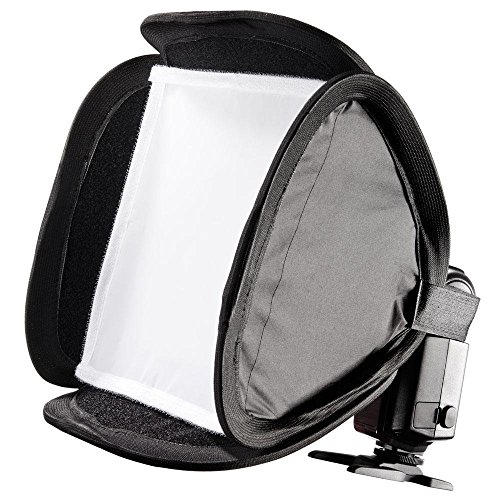 23 cm professionale (9 ') Portable Flash Softbox Diffusore per Flashguns: Nikon SB910 SB900 SB800 SB600, Canon 600EX 580EX 580EXII 430EXII 430EX, Sony, Pentax, Olympus, Panasonic Lumix ecc