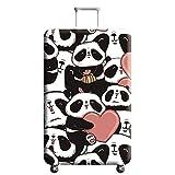 Cover Proteggi Valigia Elasticizzata in forma Flamingo 18-32 pollici Suitcase Cover Cover Proteggi bagagli protettore dei bagagli valigia (panda 1, M)
