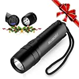 SUAOKI 4 in 1 Cree LED Taschenlampe Power Bank, mini Flashlight, Wasserdicht Taschenlampe, Wiederaufladbare Taschenlampe mit USB Ladeanschluss