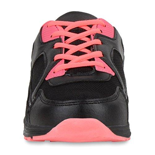 Damen Herren Unisex Laufschuhe Neon Runners Casual Schuhe Sportschuhe Schwarz Coral Cabanas