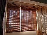 SED Bagno e Toilette - Tende da Rullo Tende a Rullo Isolamento Termico Tapparelle per Finestra, bambù Naturale con Balza e Cordoncino, Adatto per Cucina e casa,95 * 210 cm
