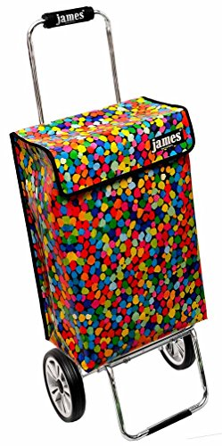 James Einkaufstrolley Design CONFETTI deluxe, moderner Einkaufswagen, bunter Lifestyle Shopper, Trolly, Rollkoffer, 40kg Tragkraft, klappbar, made in EU!
