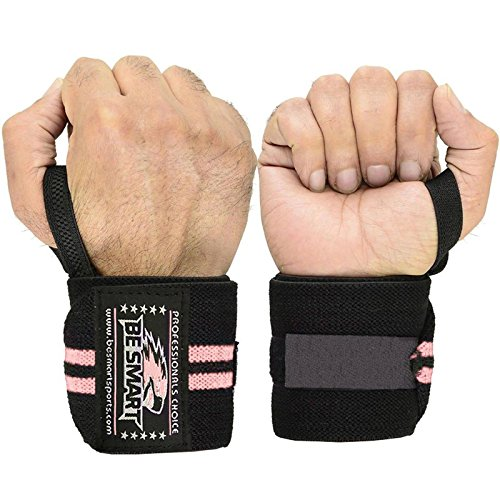 Sollevamento pesi polsiere tutore mano supporto palestra cinghie cotone g, Uomo, Pink