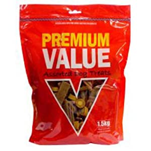 Premium Value Assorted Dog Treats 1.5 kg by KENWN