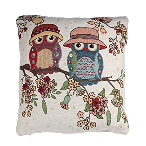 Culater®Home Car Bed Sofa Vintage Decorative Cute Owl Pillow Case Cushion Cover