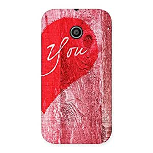 Enticing Pink You Multicolor Back Case Cover for Moto E