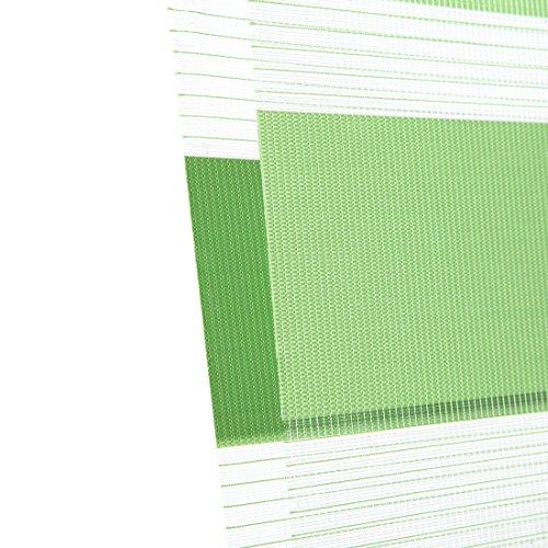 OBdeco Doppelrollo Klemmfix 100x150cm Grün Duo Rollo ohne Bohren mit Klemmträgern Fensterrollo - 7