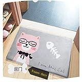 Morbuy Felpudos Divertidos Animales Alfombra de Baño Niños Salón Cocina Dormitorio Hogar Antideslizante 50X80CM Lavable Decorativo (50 x 80CM, Señora del Gato)