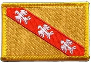 Écusson brodé Flag Patch France Lorraine - 8 x 6 cm