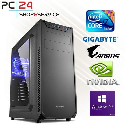 PC24 GAMER PC | Samsung 970 M.2 SSD | INTEL i7-8700K @6x4,50GHz Coffee Lake | nVidia GF RTX 2080 mit 8GB RAM | 16GB DDR4 PC2666 RAM | Gigabyte Z390 Aorus Pro | 600Watt 80+ ATX Netzteil | Windows 10 Pro | i7 Gamer PC Bravia Multi-system